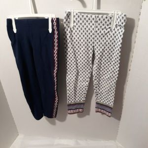 Carters 2t Girl Tights Bundle lot of 2